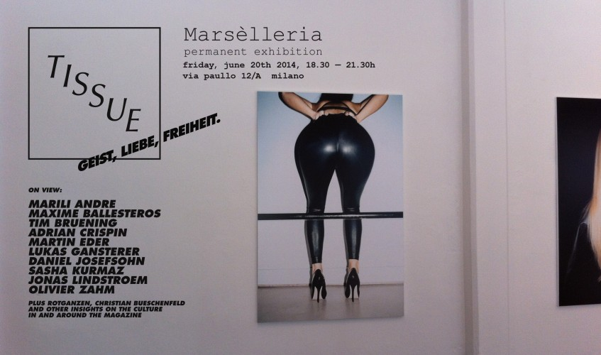 TISSUE Ultra 3 reception at Marsèlleria, Milano