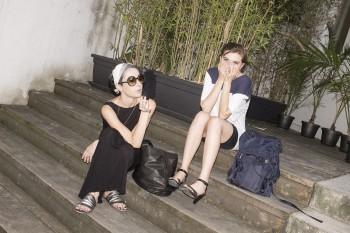 Martina Pontiggia & a friend, both from Marsèlleria Permanent Exhibition