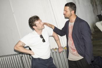 Mirko Rizzi (Marsèlleria) and Uwe Jens Bermeitinger (TISSUE Magazine) do some serious talking.