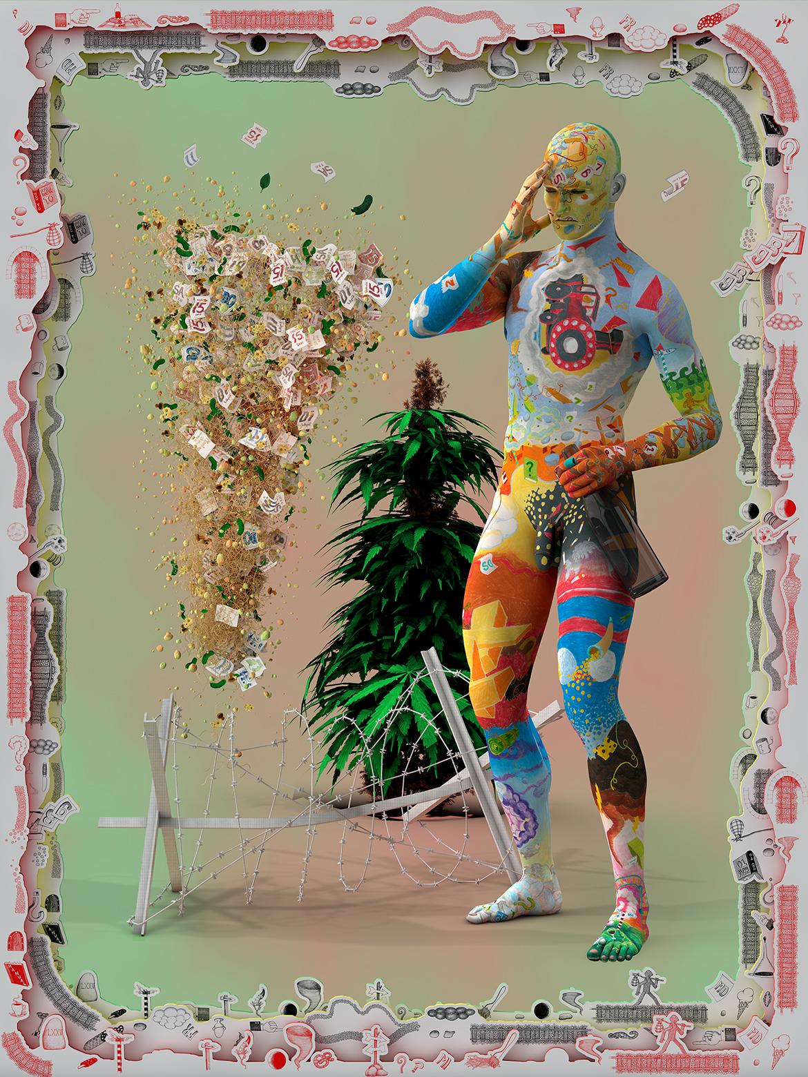 Aspettatori crapulent  2014, photography mounted on dibond (framed), 240 cm x 180 cm